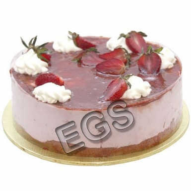 2lbs Strawberry Mouse Cake From Kitchen Cuisine delivery to Pakistan