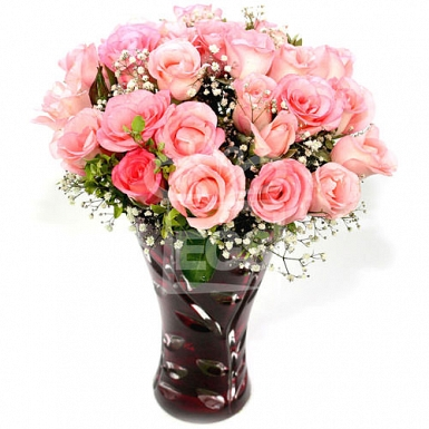 Pink Bloom in Vase