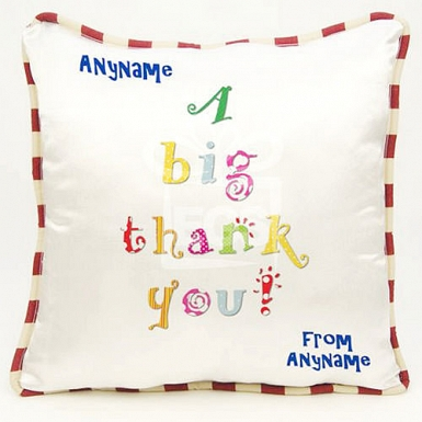A big thank you-Personalised cushion