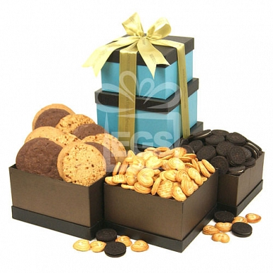 Assorted Biscuits Gift Tower