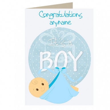 Baby Boy - Personalised Cards