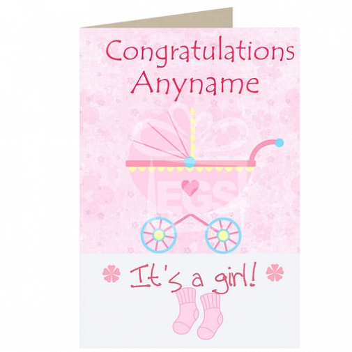 Baby Girl - Personalised Cards