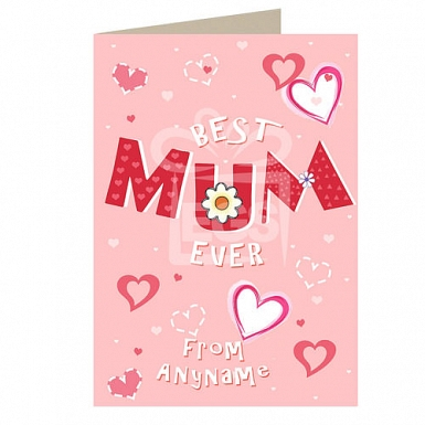 Best Mum Ever - Personalised Card