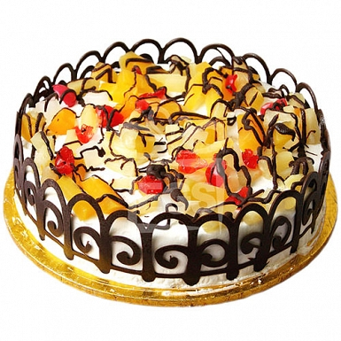 2lbs Fruit Cocktail Cake From Tehzeeb Bakers delivery to Pakistan