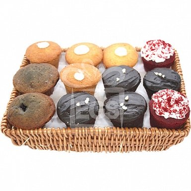 Muffins Gift Hamper Basket from Massom Bakers delivery to Pakistan