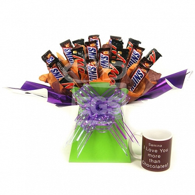 Chocolates and Mug Bouquet Hamper