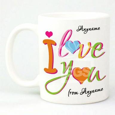 Colorful I Love You-Personalised Mug