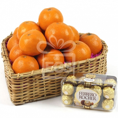 Oranges and Rochers Delight Basket