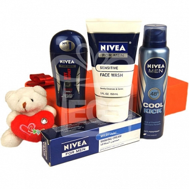 Pampering Nivea Gift Hamper For Man delivery to Pakistan