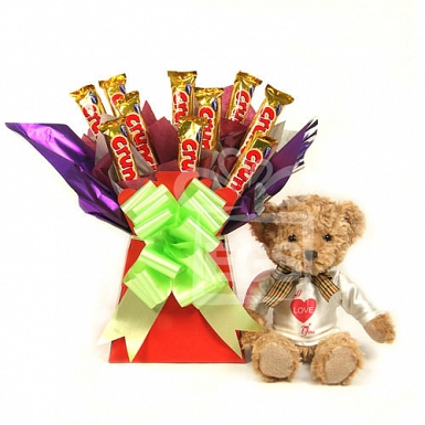 Honey Bear Crunchy Bouquet