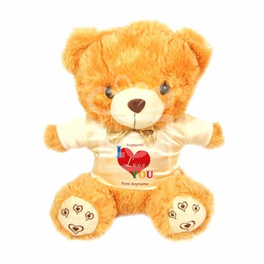 I Love Red Heart - Personalised Bear