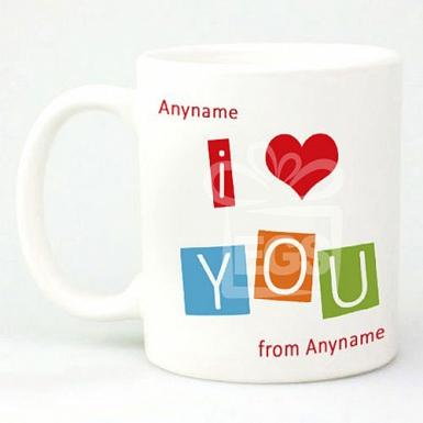I Love You -Personalised Mug