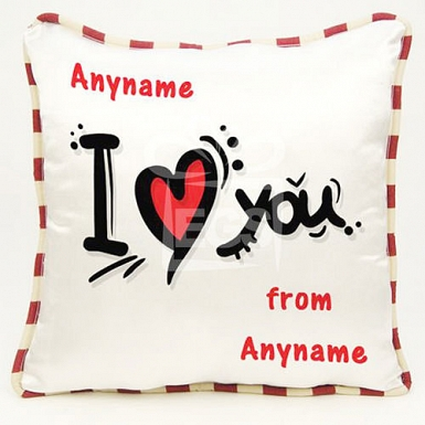 I love you - Personalised cushion