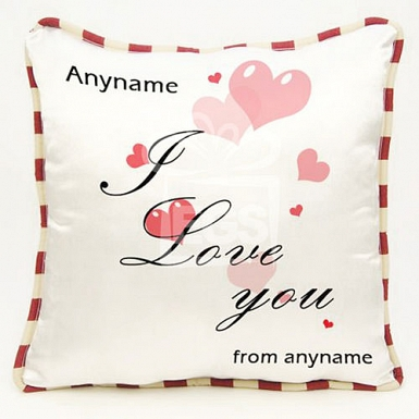 I love you -Personalised cushion