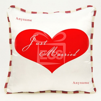 Just Married Cushion - Personalised Cushion