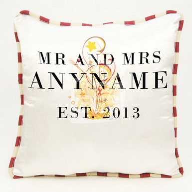 Mr and Mrs Established - Personalised Cushion