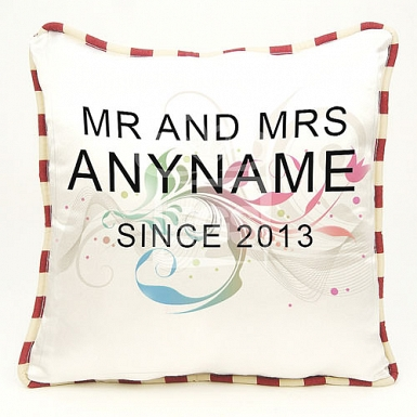 Mr and Mrs Since Cushion - Personalised Cushion