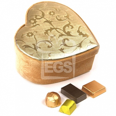 Patchi Golden Heart Box 500 Grams - Patchi Chocolate