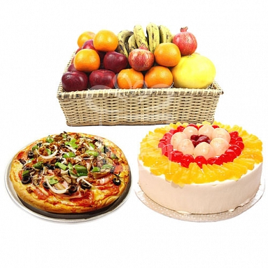 Pizza hut-Cake-Fruits