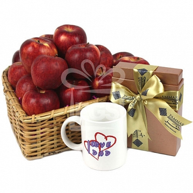 Red Apples With Dates For Dad delivery to Pakistan