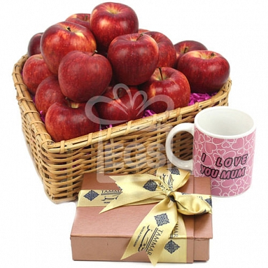 Red Apples and Dates for Mom