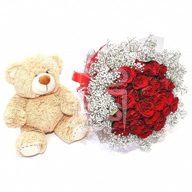 Red Orchids and Teddy