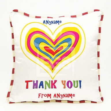 Thank You - Heart-Personalised cushion