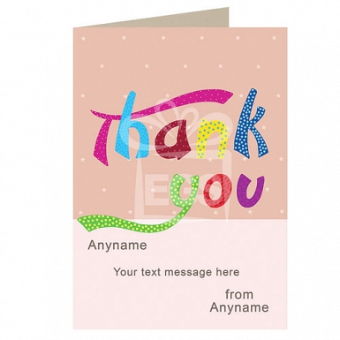 Thank You -Stars- Personalised Card