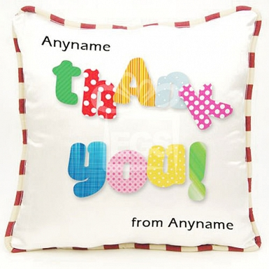 Thank you -Personalised cushion