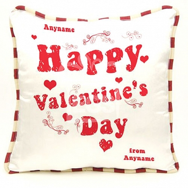 Valentines Day-Personalised Cushion
