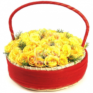 Yellow Sunshine Basket