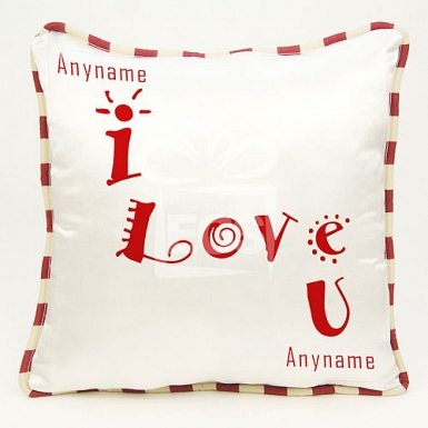 I Love U Cushion - Personalised Cushion