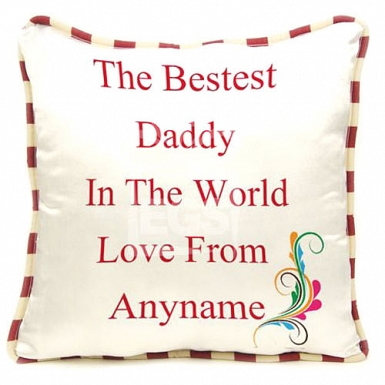 Best Daddy In The World - Personalised Cushion