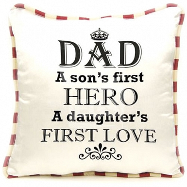 Dad as Hero Cushion