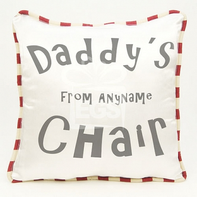 Dads Chair Cushion - Personalised Cushion