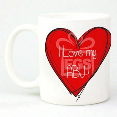 I Love My Abu Heart - Personalised Mug