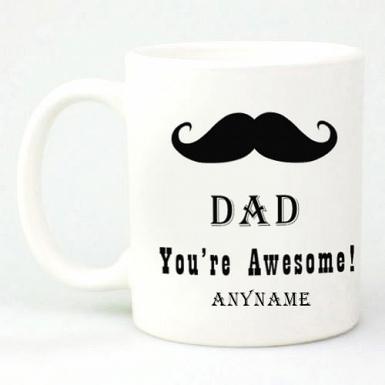 Dad Moustache Mug - Personalised Mugs