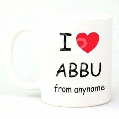 I Love Abbu from Anyname - Personalised Mugs