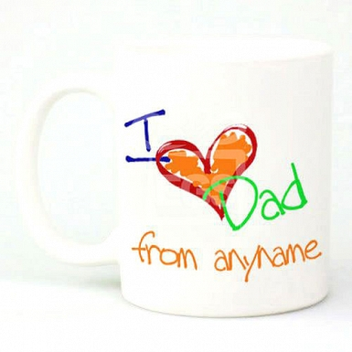 I Love Dad from Anyname - Personalised Mugs