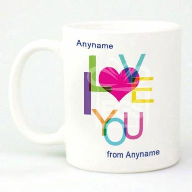 I Love You - Personalised Mug