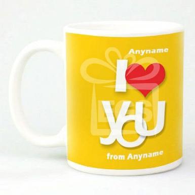 I Love You-Personalised mug