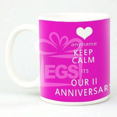 Keep Calm Anniversary - Personalised Mugs