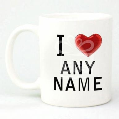 I Love Mug - Personalised Mugs