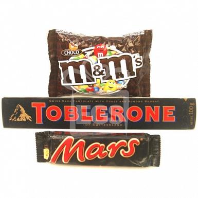 MandM, Toblerone and Mars - 24 Bars