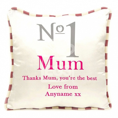 No1 Mum - Personalised Cushion
