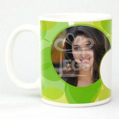 Green Polka Dots Mug - Personalised Mugs