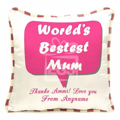 Worlds Best Mum - Personalised Cushion