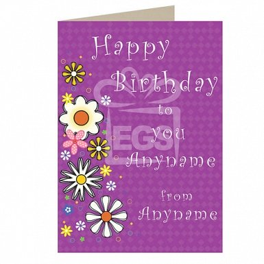 Personalised cards delivery by post express gift service happy birthday to you personalised card m4hsunfo