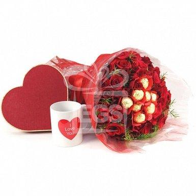 Romantic Roses and Chocolates Treat