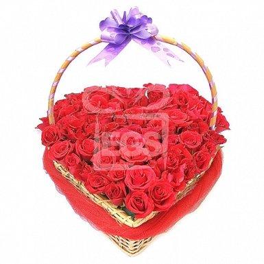 Luxury Red Rose Basket